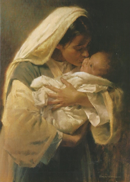 Mary kissing Jesus 001
